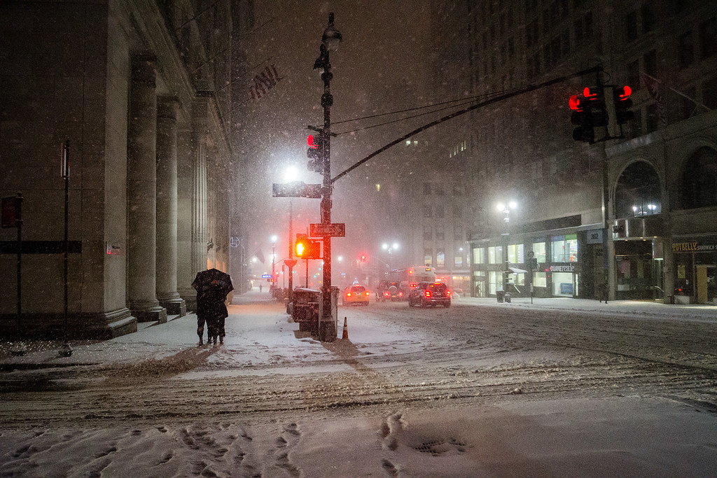 New York Winter Night – Midtown in the Snow-XL